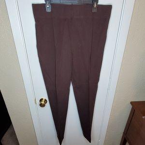 Brown Slim Leg Pant
